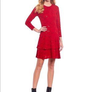 Michael Kors embellished red dress